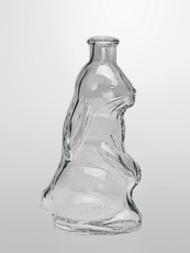 Edelglasflasche  Hase