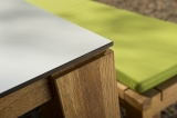 Tisch Savona -HPL in Weiß-