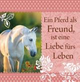 Romantisches Geschirrtuch: Ein Pferd als Freund...