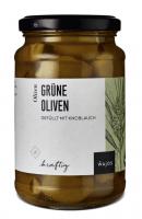 Grüne Oliven - Gefüllt mit Knoblauch