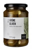Grüne Oliven - Gefüllt mit Frischkäse