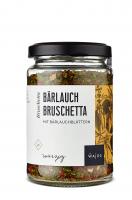 Bärlauch Bruschetta - Mit Bärlauchblättern